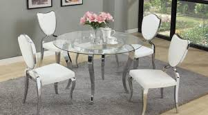 Glass Circular Dining Table Glass Dining Table With Grey Chairs Dining Table Set