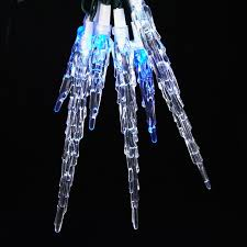 blue led icicle outdoor christmas lights decorate led icicle