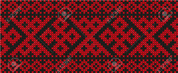 ukraine pattern vector embroidered cross stitch ethnic ukraine pattern vector design