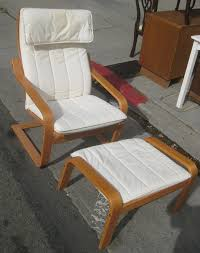 Ikea Chair Ottoman Uhuru Furniture Collectibles Sold Ikea Poang Chair And