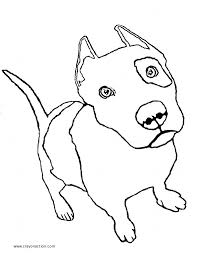 Pit Bull Puppy Coloring Page Crayon Action Coloring Pages Puppy Color Pages