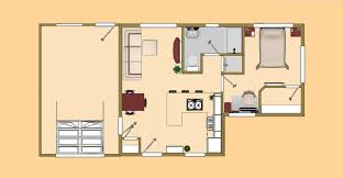 floor plan view of the 488 sq ft