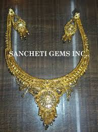 new necklace set images Buy imitation gold necklace set from sancheti gems inc new delhi jpg