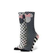 sprinkled minnie womens disney socks stance