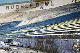 rubber bowl akron ohio hosted rock legends lies