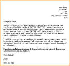 formal resignation letter resignation letter format resignation