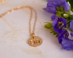 Tiny Name Necklace Three Initial Necklace Two Or Three Letters On One Disc Tiny