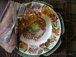 antique thanksgiving turkey dinnerware set 8 brown transferware