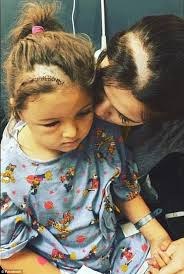 hairstyles brain surgery utah mom shaves a line in her own hair to match her daughter post