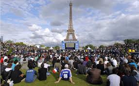 the sports fan zone paris fan zone under 24 7 surveillance during euro 2016 sports