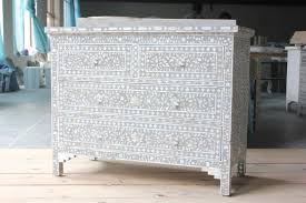 mother of pearl floor l soft grey mother of pearl inlay chest of drawer paras udaipur