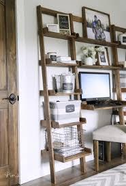 Diy Leaning Ladder Bathroom Shelf how to build bookshelves wall ideas hanging bookshelf india easy