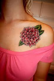 cute collar bone tattoos cute dahlia collarbone tattoo tattoomagz