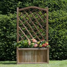 melrose planter with trellis anchor fast