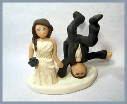 humorous country wedding cake toppers