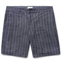 club monaco outlet club monaco mens baxter herringbone linen shorts outlet