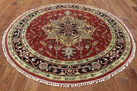 6 u0027 round heriz serapi oriental rug h6959