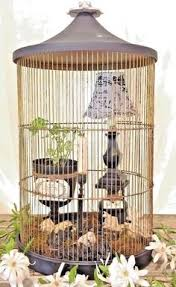 Shabby Chic Bird Cages by Details About Shabby Chic Cream Cage With Lamp Flowerpot And