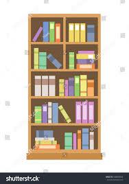 elegant bookcase flat style isolated on stock vector 548668066