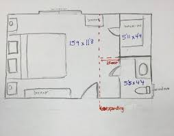 adding a bedroom master bedroom 2 piece bathroom to expand to add shower or not