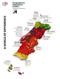 Map Of Spain Regions by Map Of Portuguese Wine Regions Or D O C U0027s Spanishwine Com