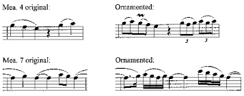 don t repeat it ornament it the bass and violone