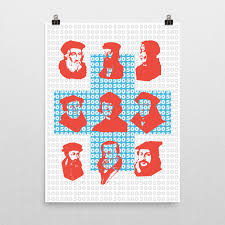 there were many key figures in the reformation this print