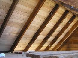 Outdoor Wood Ceiling Planks by Little Cabin In The
