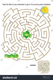 maze game activity page kids help stock vector 140454727