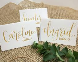 Wedding Table Cards Wedding Place Cards Etsy