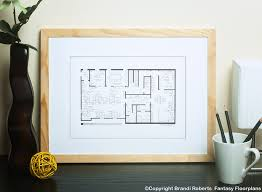 Fantasy Floor Plans The Office Dunder Mifflin Floor Plan Poster