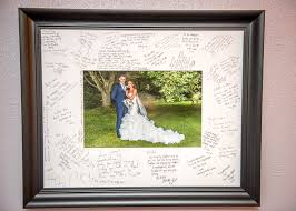wedding signing frame signature frame display your guests messages gavin aitken