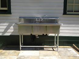 3 bay stainless steel sink 3 compartment stainless steel commercial sink and faucet pertaining