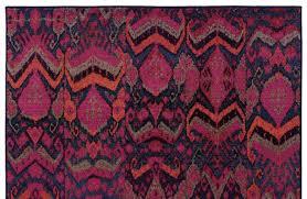 Fuchsia Rug Pink Fuchsia Ikat Pattern Rug Woodwaves
