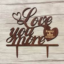 wood cake toppers wood wedding cake topper chic gift for you more party