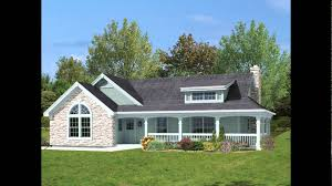 cottage house plans with wrap around porch one floor house plans with wrap around porch open concept cottage
