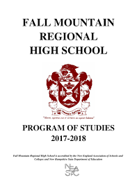 fmrhs programs of studies 2017 18 by fall mountain regional
