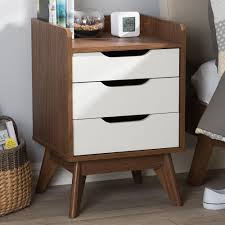 prepac monterey 2 drawer white nightstand wdc 2422 the home depot