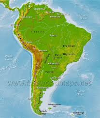 a map of south america south america physical map freeworldmaps