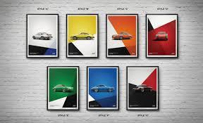 porsche poster porsche 911 rs poster set classic driver market