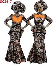 African Halloween Costume African Long Wax Dress Fashion Style Embroidery Ankara Women