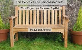 Engraved Garden Benches 2 Seat Farleigh Garden Bench Garden Benches