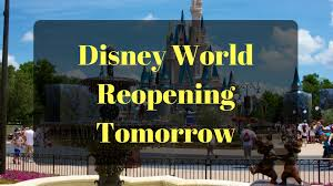 orlando theme parks reopening tomorrow tuesday september 12