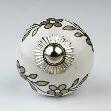 Bedroom Knobs And Pulls For Furniture Floral Flower Ceramic Door Knobs Handles Furniture Drawer Pulls