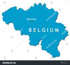 Where Is Brussels Belgium On A Map Outline Country Map Belgium Brussels Capital Stock Vektorgrafik