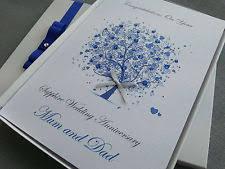 65th wedding anniversary gift personalised handmade sapphire 45 years wedding anniversary gift