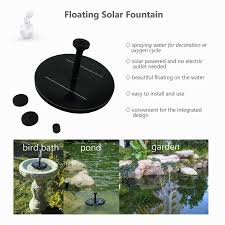 Solar Floating Pond Lights by Floating Low Power Consumption Solar Light Fountain Pump For