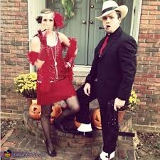 1920s Halloween Costume 1920s Flapper Gangster Couple Halloween Costume