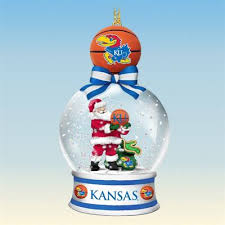kansas jayhawks snow globe ornaments the danbury mint