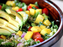 Garden Salad Ideas Kale Edamame Quinoa Salad With Lemon Vinaigrette Ambitious Kitchen